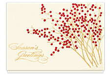 Season's Greetings Berry Garden Holiday Cards