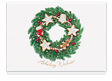 Holiday Wishes Wreath Cards