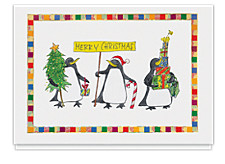 A Penguin Christmas Card
