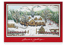 Log Cabin Greetings Holiday Cards