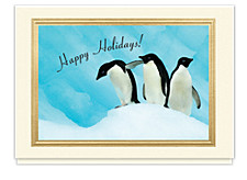 Holiday Penguin Trio Card