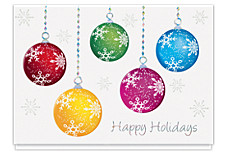 Happy Holiday Ornaments Christmas Cards