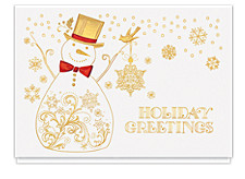 Snowman Holiday Greetings Cards