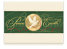Golden World of Peace Holiday Cards