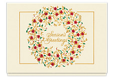 Graceful Season's Greetings Wreath Card