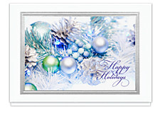 Silver Garland Holidays Card