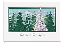 Season's Greetings Silvery Pines Cards