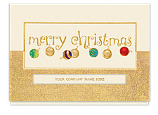 Golden Merry Christmas Cards