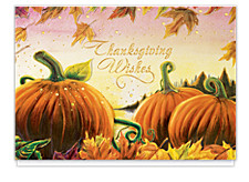 Thanksgiving Pumpkins Holiday Cards