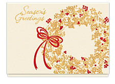 Season's Greetings Berry Wreath Cards