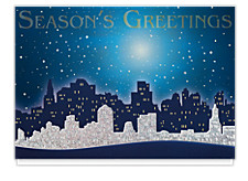 Glittering City Greetings Holiday Cards