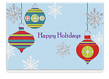 Colorful Holiday Ornaments Card