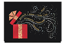 Elegant Holiday Surprise Cards