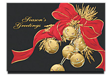 Season's Greetings Sleigh Bells Holiday Cards