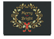 Merry and Bright Wreath Holiday Card