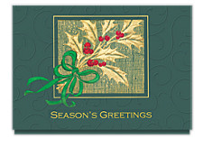 Holly Berry Season's Greetings Cards