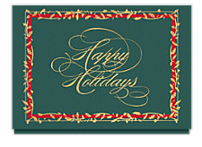 Holiday Holly Border Cards