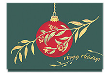 Ornamental Branch Christmas Cards