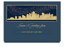 Sparkling Skyline Die-Cut Holiday Cards