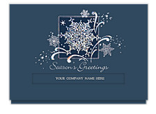 Snowflake Dazzle Die-cut Greeting Cards