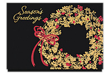 Holiday Berry Wreath Christmas Cards