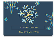 Dazzling Snowflake Holiday Cards