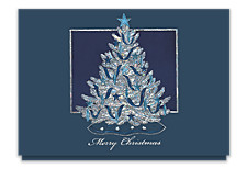 Shimmering Tree Merry Christmas Cards