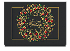 Brilliant Season's Greetings Wreath Cards