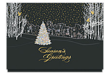 Bright City Lights Christmas Card