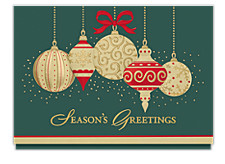 Gilded Ornaments Holiday Card