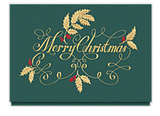 Golden Christmas Greetings Cards
