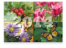 2014 Four Seasons Calendar Card