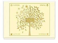 2014 Seasonal Tree Calendar Card