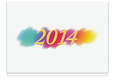 2014 Rainbow Brushstroke Calendar Card