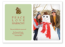 Peace Love Harmony Christmas Photo Cards