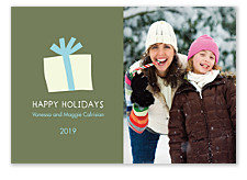 Gift Box Christmas Photo Cards