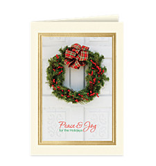 Christmas Welcome Wreath Card