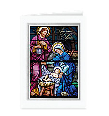Joy and Peace Nativity Christmas Card