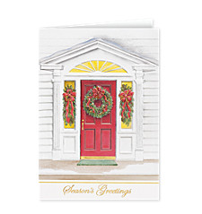 Season's Greetings Welcoming Doorway Cards