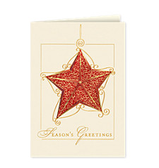 Season's Greetings Scrollwork Star Cards