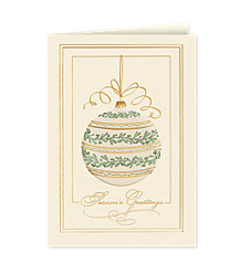 Season's Greetings Graceful Ornament Cards