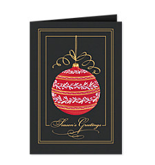 Season's Greetings Regal Ornament Holiday Cards