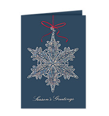 Filigree Snowflake Ornament Holiday Cards
