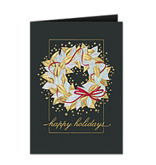 Radiant Wreath Christmas Card