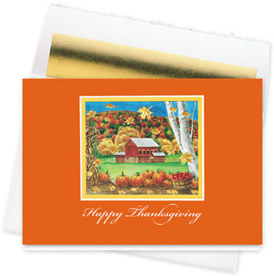 Fall Bounty Thanksgiving Cards