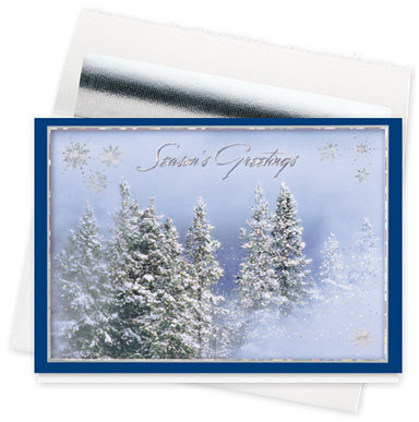 Glittering Forest Holiday Cards
