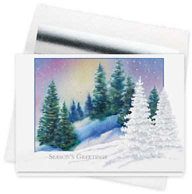 Shimmering Forest Holiday Cards
