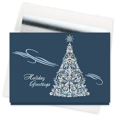 Filigree Flourish Holiday Cards